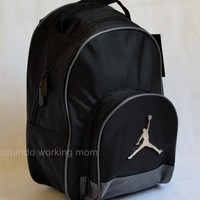 Nike Air Jordan Toddler Preschool Boy Backpack Black Gray Basketball Jumpman