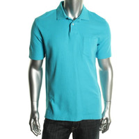 John Ashford Mens Pique Ribbed Collar Polo Shirt