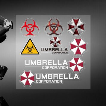 Car Styling Resident Evil Personalized Stickers Umbrella Corporation Cars Door Windows Sticker Decals Accessories for bmw benz