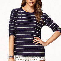 Striped Patch Pocket Top