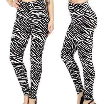 Zebra Print  Softbrush leggings PLUS SIZE