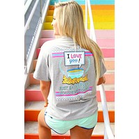 Jadelynn Brooke I Love You Queso (Light Heather Grey) - Short Sleeve / Pocket Tee