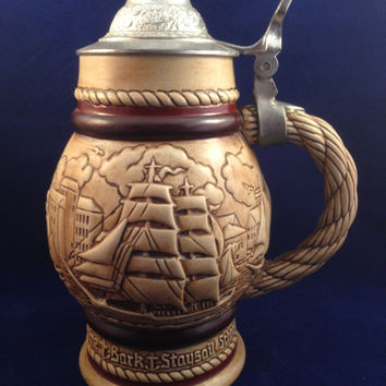 Avon Staysail Schooner Stein Handcrafted in Brazil 1977 Ceramarte Exclusive Edt