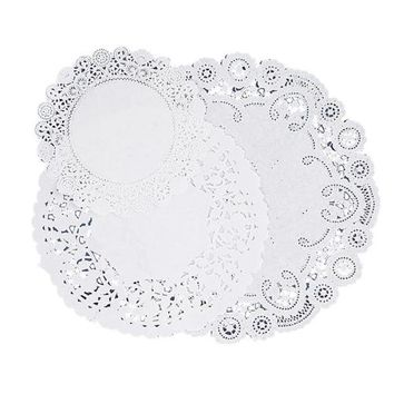 """Pacon Corporation Paper Doilies, Assorted Sizes 4""""""""/6""""""""/8"""""""", 30/PK, White Case Pack 6"""