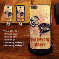 The Hunger Games Grafity Logo Design for iPhone 4, iPhone 4s, iPhone 5, Samsung Galaxy S3, Samsung Galaxy S4 Case