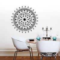 Wall Decal Vinyl Sticker Decals Art Home Decor Mural Mandala Ornament Indian Geometric Moroccan Pattern Yoga Namaste Lotus Flower Om AN265