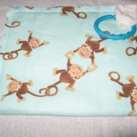 Playful Monkey Baby Fringe Rag Burp Cloth Terry Flannel baby link