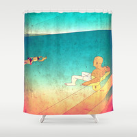 Getting Things Done Shower Curtain by Eric Petersen