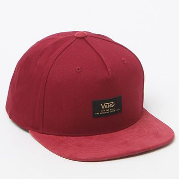 Vans Prater Starter Burgundy Snapback Hat - Mens Backpack - Red - One