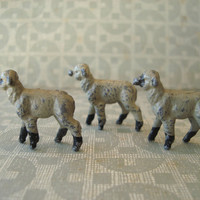 Little Metal Sheep - Group of 3