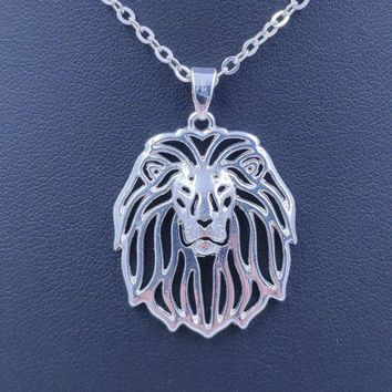 2018 Lion Dog Animal Pendant Necklace Gold Silver Plated Jewelry For Women Male Female Girls Ladies Punk Cute
