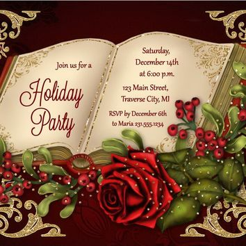 Book Christmas Invitations