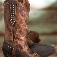 Ariat Ladies Rhinestone Cowgirl Boots 8 Brown