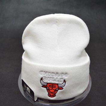 Chicago bulls Women Men Embroidery Beanies Knit Hat Cap-11