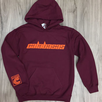 Kanye West Calabasas hoodie - i feel like pablo/saint pablo/yeezus/yeezy/ultra light beam/true legendary (orange font)