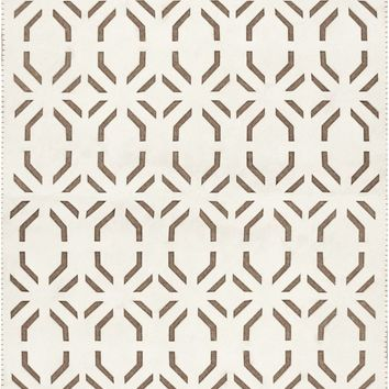 Valentino Geometric Area Rug Neutral