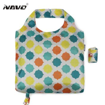 NAVO folding shopping bag eco-friendly foldable reusable grocery bags light weight shoulder tote bags sac cabas