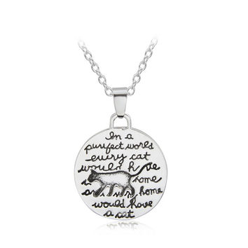 Every Cat Needs A Home Charm Necklace