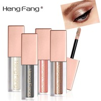 HengFang New Glitter Eyeshadow Makeup Waterproof Shimmer and Shine Gold Silver Luminous Pigments Liquid Eye Shadow Stick