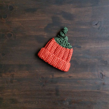 Crochet Pumpkin Beanie | Crochet Newborn Beanie | Crochet Halloween Costume | Crochet Baby Hat | Fall hat | Crochet Photo Prop | Custom Made