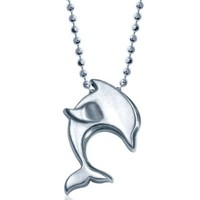 Alex Woo Little Dolphin in Sterling Silver Pendant Necklace, 16""