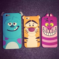 Silicone Phone case Sexy Cartoon Animal Mobile Phone case  Iphone5 5S Iphone6 6S Iphone6 Plus Case