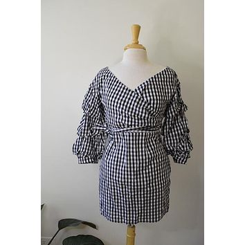 Do + Be Black Gingham Dress