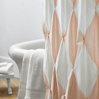 The Emily & Meritt Harlequin Pintuck Shower Curtain