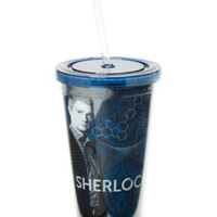 Sherlock Faces Acrylic Travel Cup