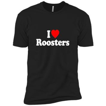 I Love Heart Roosters Funny T-Shirt