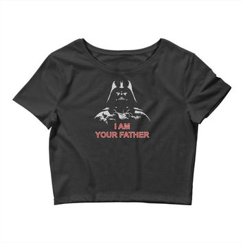 i am your father   mens funny Crop Top