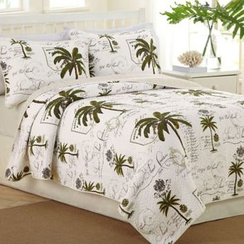 Raymond Waites Palm Beach Full/Queen Coverlet