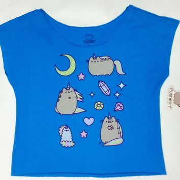 Pusheen The Cat PUSHEENICORN Ladies Relaxed Dolman Top T-Shirt NWT Licensed