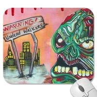Zombie Hunter Mousepad from Zazzle.com