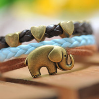 ELephant  braceletwith love heart Pandora bead by fantasticgift