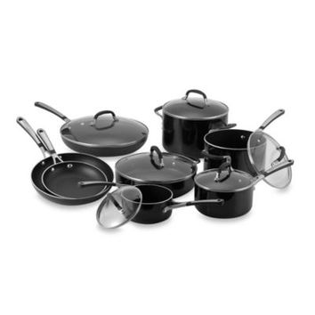 Simply Calphalon® Black Enamel Nonstick 14-Piece Cookware Set