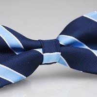 Tok Tok Designs® Handmade Men Bow Ties - B209 (Navy Blue)