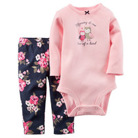 Retail 2016 Spring Style Iinfant Clothes Baby Cothing Sets Boy Cotton Little Character Long Sleeve 2pcs Baby Girl/Boy's Clothes