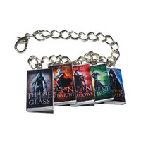 Throne of Glass Bracelet, Miniature Book Bracelet, Sarah J Maas, Celaena and Chaol