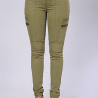 Walk The Line Pants - Olive