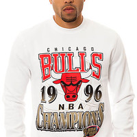 The Chicago Bulls 1996 NBA Finals Championship Sweatshirt in White