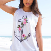 Billabong - Rosy Anchor Tank | White