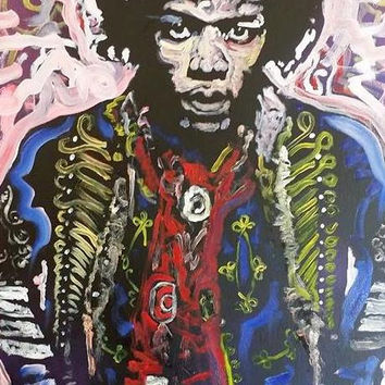 Jimi Hendrix Art 16x20 Pop Art Painting Rock Art Music Art Canvas Painting Home Decor Wall Decor Wall Art Gift Ideas