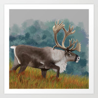 Caribou  Art Print by North Star Artwork