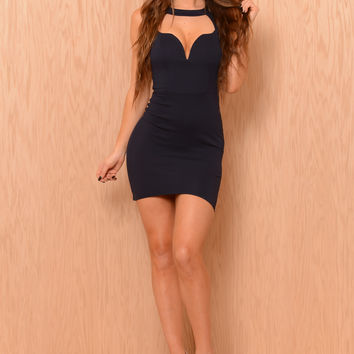 Pamela Dress - Navy