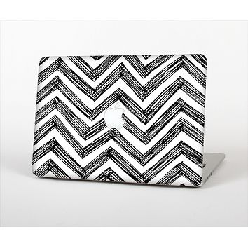 "The Sketch Black Chevron Skin Set for the Apple MacBook Pro 15"" with Retina Display"