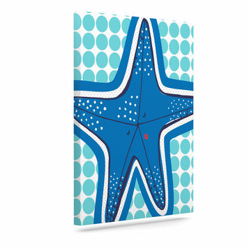 "MaJoBV ""Estrella De Mar"" Blue Starfish Canvas Art"