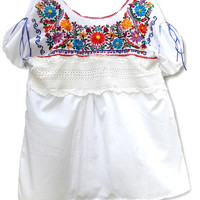 Mexican blouses plus size, Embroidered mexican peasant top, Mexican blouses embroidered, Embroidered peasant top plus size, Mexican tops