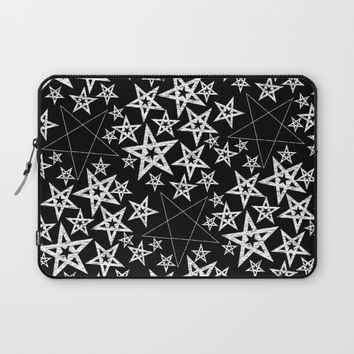Pentagram pattern Laptop Sleeve by Moonlit Emporium
