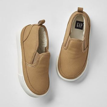 Gap Cozy Sherpa Slip On Sneakers